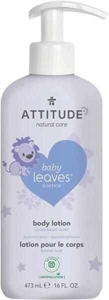 *ATTITUDE baby leaves Body Lotion, good night / almond milk