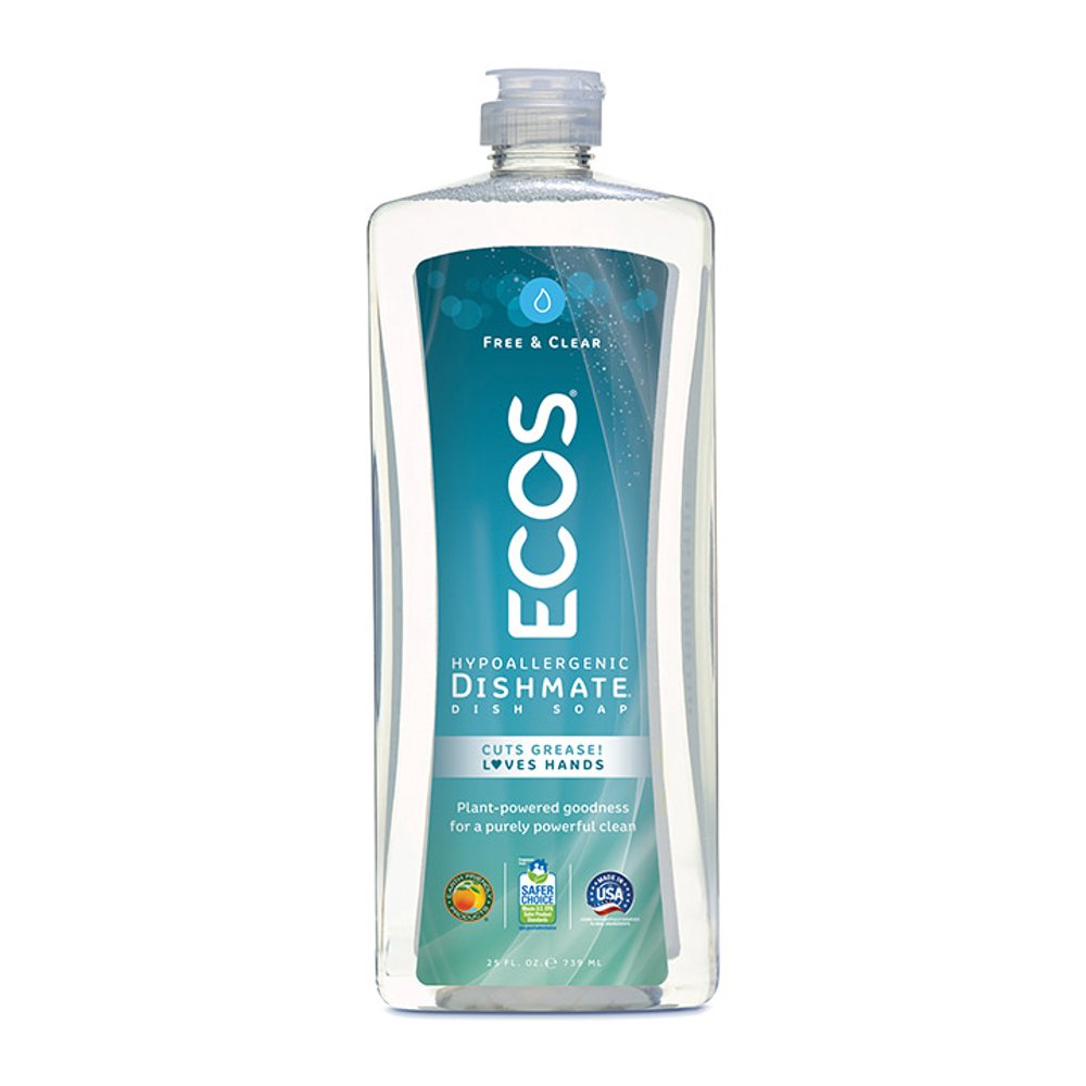 Earth Friendly Products ECOS Dishmate Dish Soap, Free & Clear