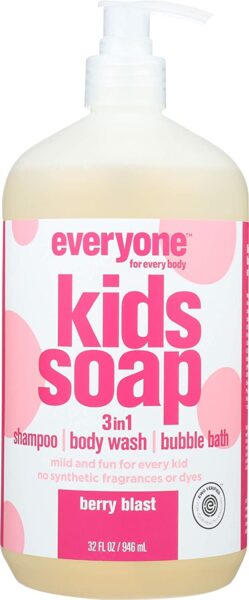 *Everyone Kids Soap 3-in-1, Berry Blast – shampoo, body wash, bubble bath