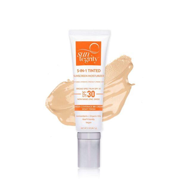 Suntegrity 5 in 1 Natural Moisturizing Tinted Face Sunscreen, Medium, SPF 30