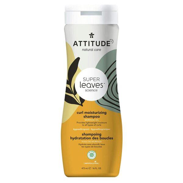 *ATTITUDE Super Leaves Curl Moisturizing Shampoo, Moringa Oil