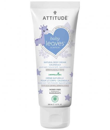 *ATTITUDE baby leaves Calendula Cream, good night / almond milk