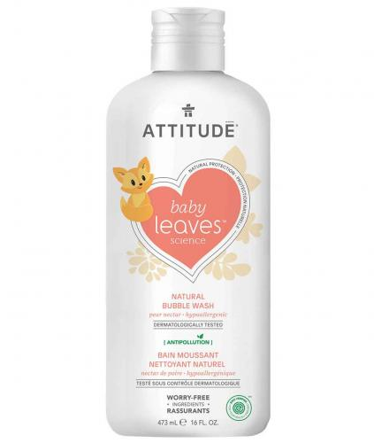 *ATTITUDE baby leaves Bubble Wash, pear nectar