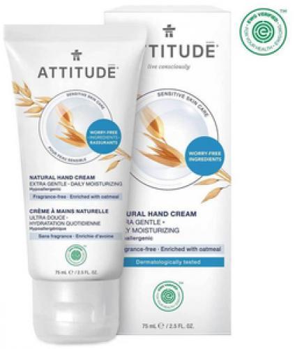 *ATTITUDE Sensitive Skin Hand Cream, fragrance-free