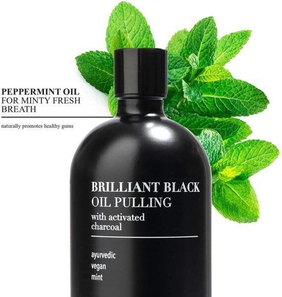 Zero Waste Cartel, Oil-Pulling Mouthwash with Activated Charcoal, terra & co