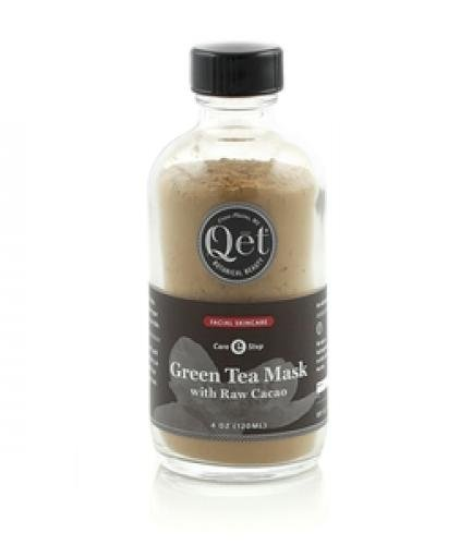 Qet Botanicals Green Tea Mask with Raw Cacao