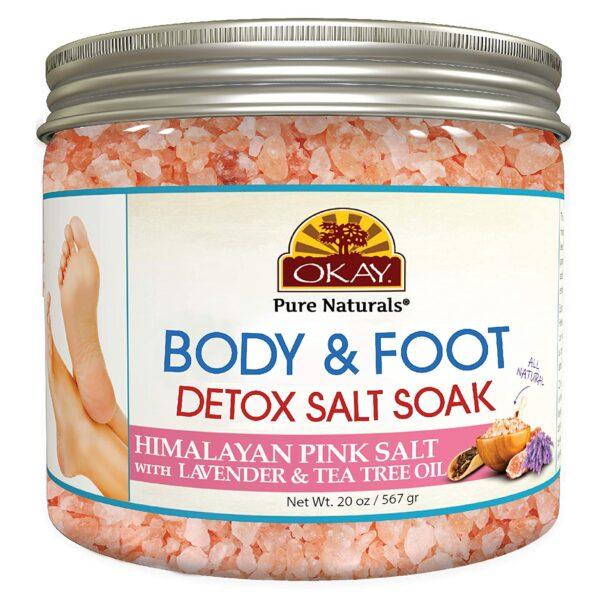 Okay Detoxifying Foot Soak Spa, Himalayan Pink Salt
