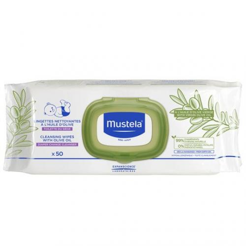 *Mustela Cleansing Wipes with Olive Oil