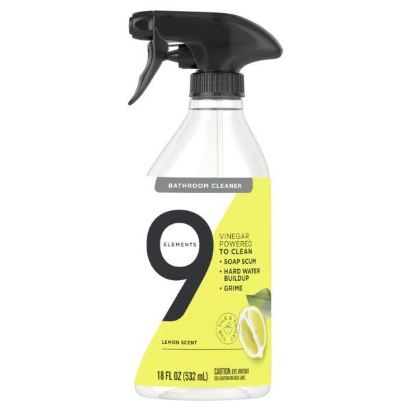 9 Elements All Purpose Cleaner, Lemon Multi Surface Cleaning Vinegar Spray