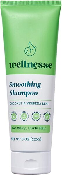 *Wellnesse Smoothing Shampoo for Wavy, Curly Hair, Coconut & Verbena Leaf