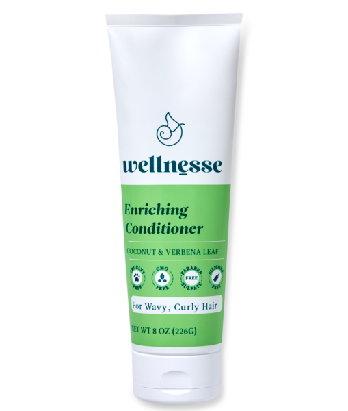 *Wellnesse Enriching Conditioner for Wavy, Curly Hair, Coconut & Verbena Leaf