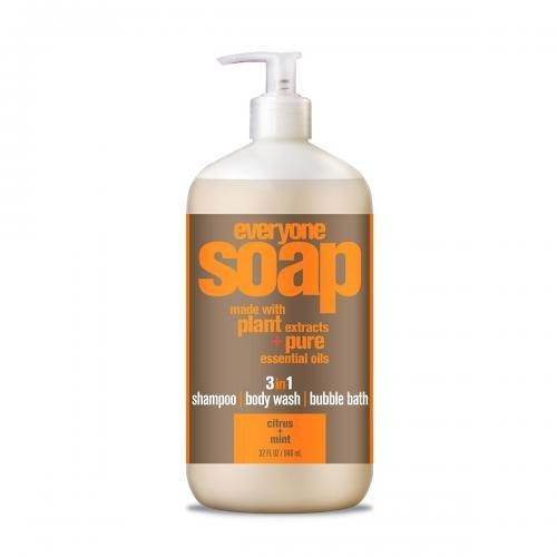 *Everyone 3in1 Soap, Citrus & Mint – shampoo, body wash, bubble bath