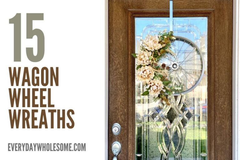 15 Wagon Wheel Wreaths for All Seasons, Everyday Front Porch