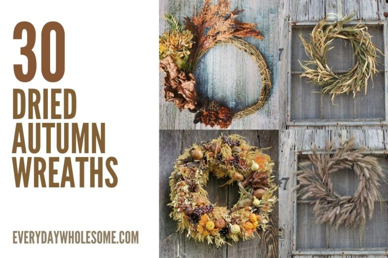 30+ Dried Autumn Wreaths for your Natural Fall Home