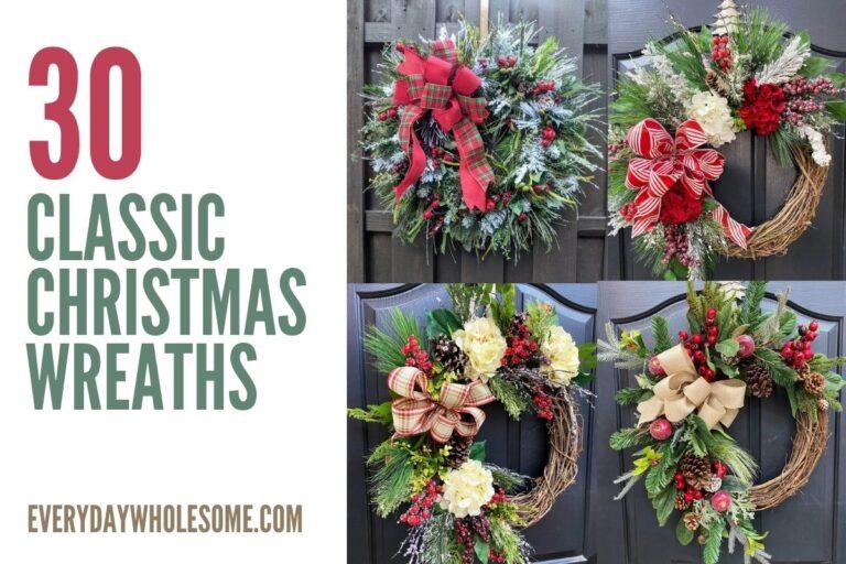 30+ Classic Christmas Wreaths