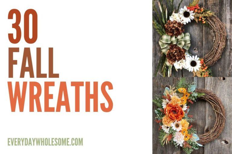 30+ Fall Wreaths for your Farmhouse Autumn Front Door Decor