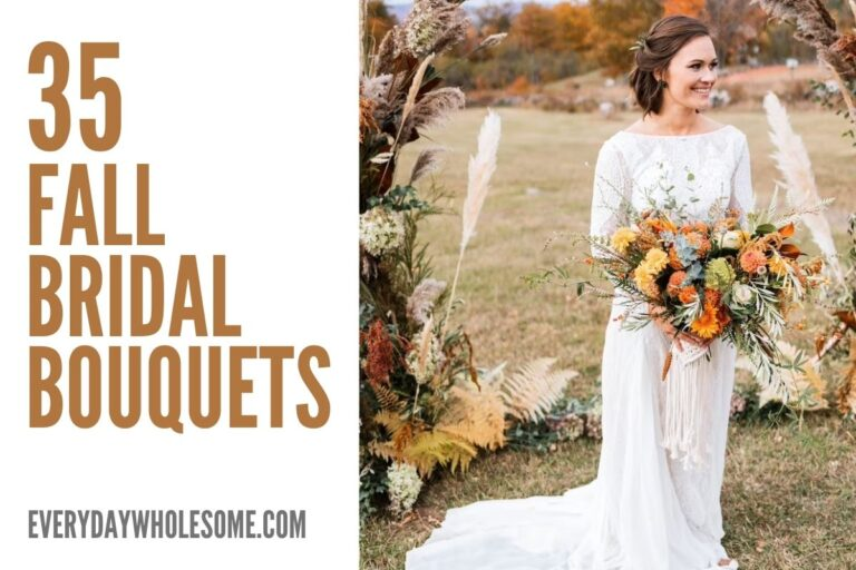 35 Fall Bridal Bouquets for your Autumn Wedding