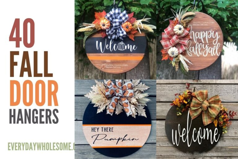 40+ Fall Door Hangers for your Farmhouse Front Porch Decorating Ideas