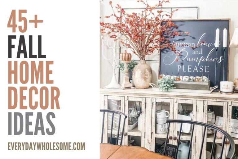 45 Fall Home Decor Ideas for your Autumn Home & Front Porch