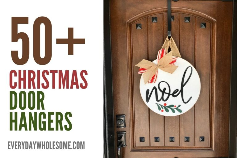 50 Christmas Door Hangers for your Holiday Front Porch Decor Inspiration