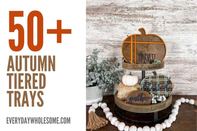 50 Fall Tiered Tray Home Decor