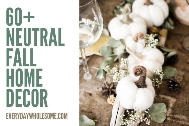 60+ Neutral Fall Home Decor Ideas for your Autumn Home