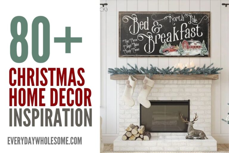 80 Christmas Home Decor Ideas for your Holiday Mantle Decorating