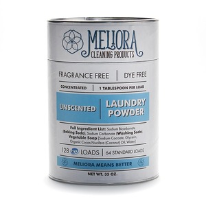 Meliora Cleaning Products Laundry Powder, Unscented